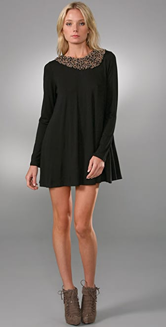 Tbags Los Angeles Collar Dress