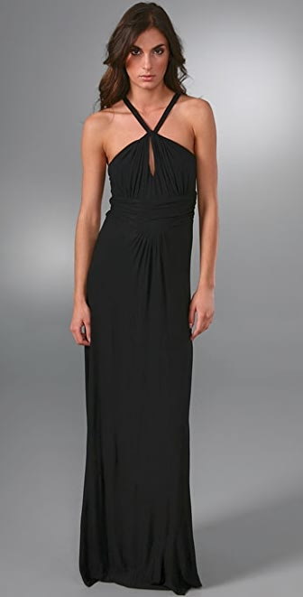 Tbags Los Angeles Halter Long Dress