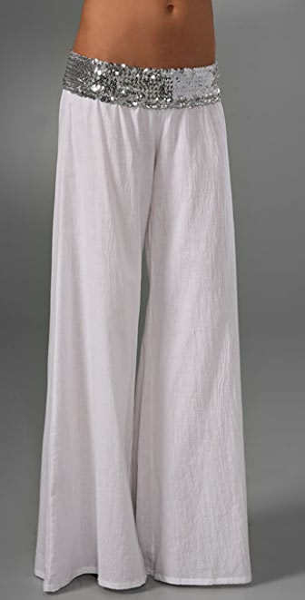 Tbags Los Angeles Wide Leg Pants with Sequins