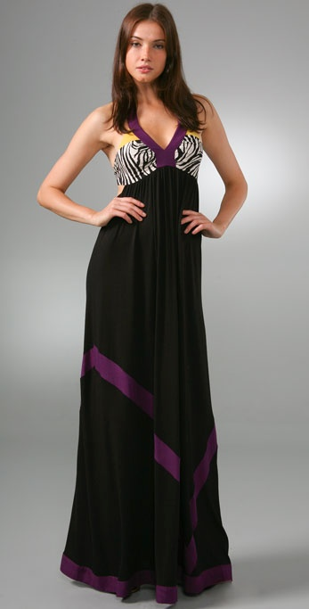Tbags Los Angeles Bandeau Back Long Dress