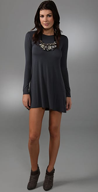 Tbags Los Angeles Long Sleeve Necklace Dress