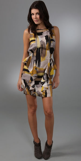 Tbags Los Angeles Side Ruffle Dress