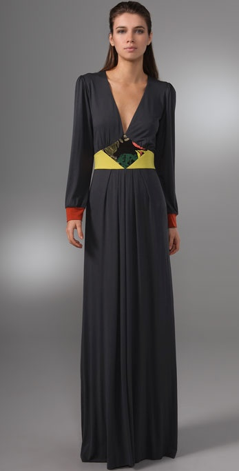 Tbags Los Angeles Long Sleeve Maxi Dress
