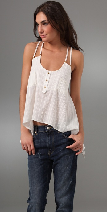 Tbags Los Angeles Double Strap Pocket Tunic