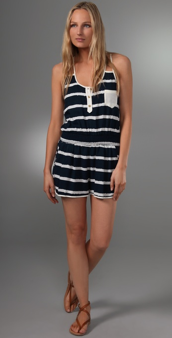 Tbags Los Angeles Double Strap Pocket Romper
