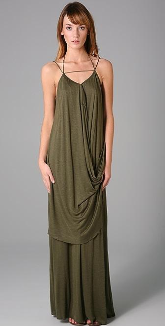 Tbags Los Angeles Draped Long Dress