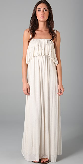 Tbags Los Angeles Studded Long Dress