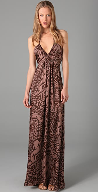 Tbags Los Angeles Printed Long Dress