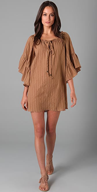 Tbags Los Angeles Bell Sleeve Dress
