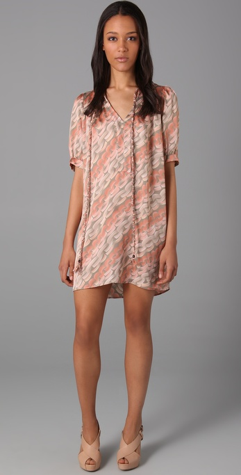 Tbags Los Angeles Print Mini Dress