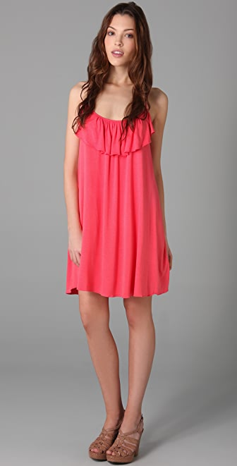 Tbags Los Angeles Ruffled Mini Dress