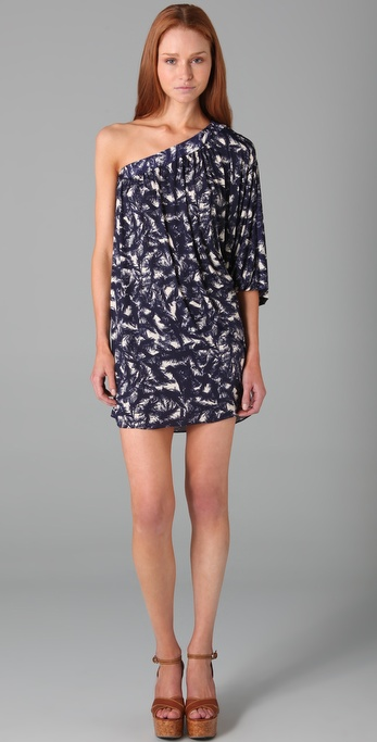 Tbags Los Angeles One Shoulder Print Dress
