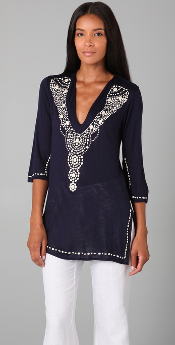 Tbags Los Angeles Embellished Tunic