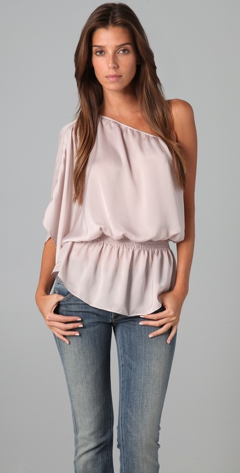 Tbags Los Angeles One Shoulder Blouse