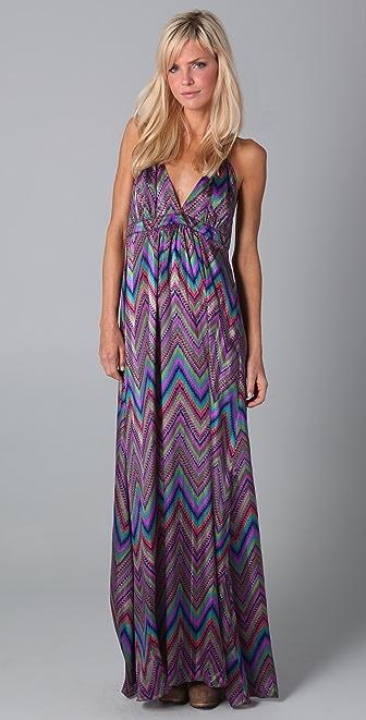 Tbags Los Angeles Print Maxi Dress