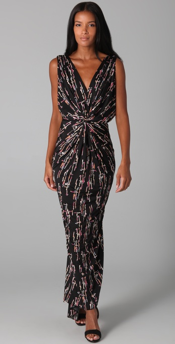 Tbags Los Angeles Twist Front Maxi Dress