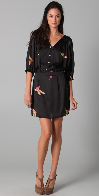 Tbags Los Angeles Print Shirtdress