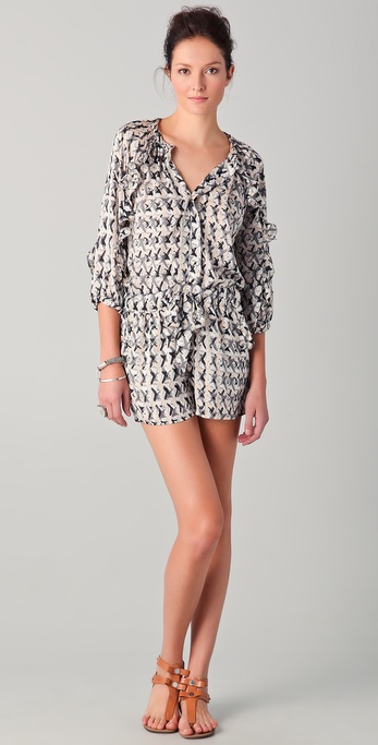 Tbags Los Angeles Print Romper
