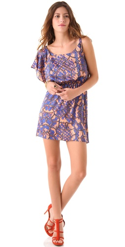 Tbags Los Angeles Tie Shoulder Mini Dress