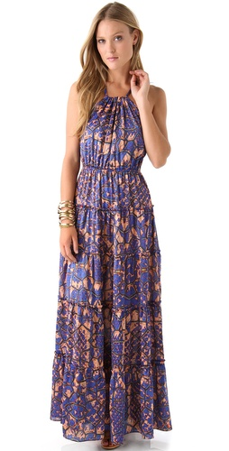 Tbags Los Angeles Print Maxi Dress