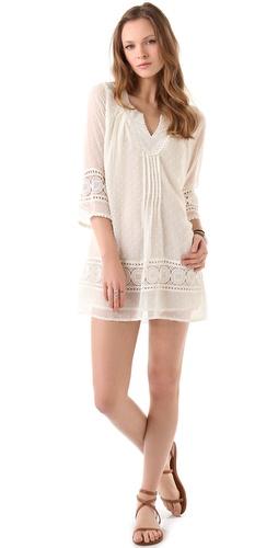 Tbags Los Angeles Crochet Shift Dress