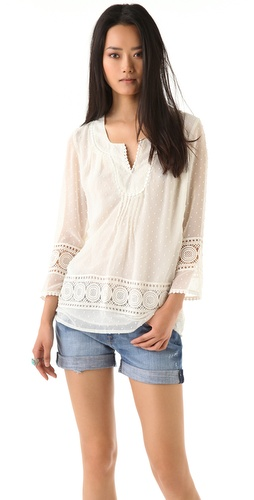 Tbags Los Angeles Crochet Blouse