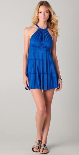 Tbags Los Angeles Tiered Strappy Mini Dress