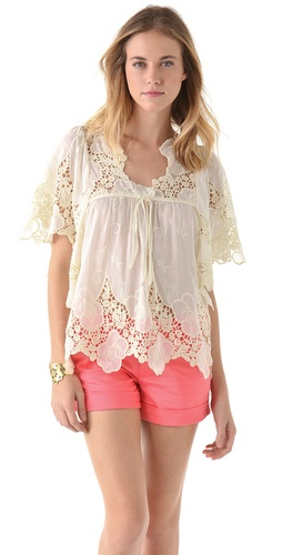 Tbags Los Angeles Lace Top