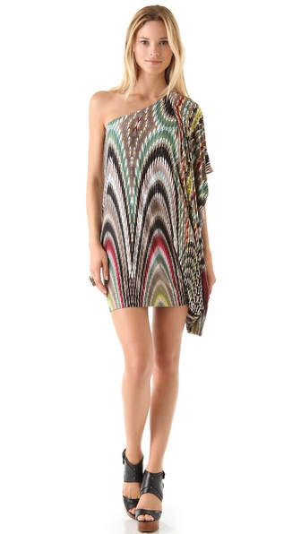 Tbags Los Angeles One Shoulder Mini Dress