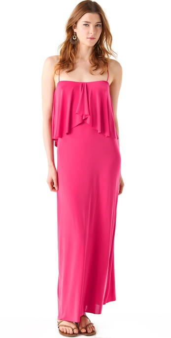 Tbags Los Angeles Layered Maxi Dress