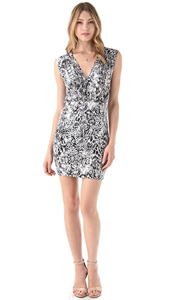 Tbags Los Angeles V Neck Dress