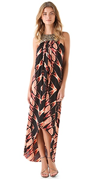 Tbags Los Angeles Print Hi Lo Dress