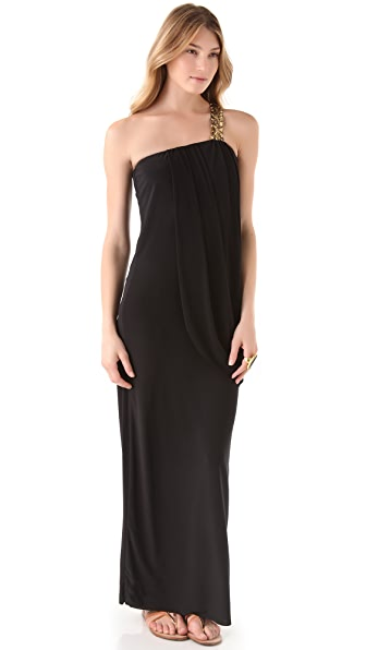 Tbags Los Angeles One Shoulder Maxi Dress