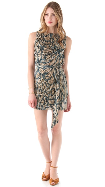 Tbags Los Angeles Draped Sleeveless Dress