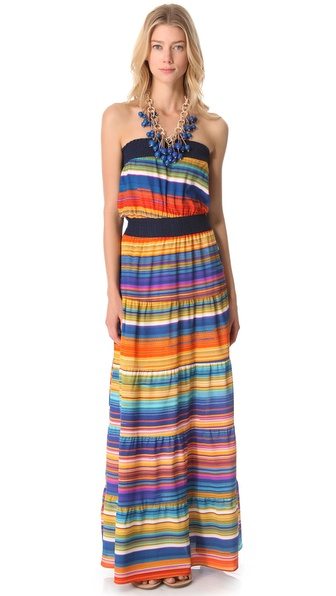 Tbags Los Angeles Necklace Maxi Dress
