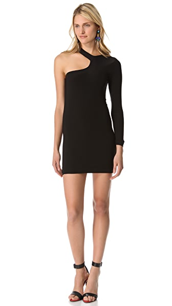 Tbags Los Angeles Cutout Shoulder Dress