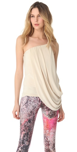 Tbags Los Angeles Draped One Shoulder Top