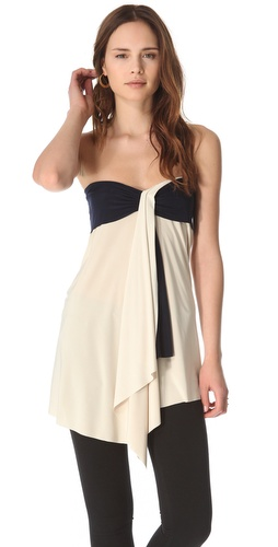 Tbags Los Angeles Strapless Draped Top
