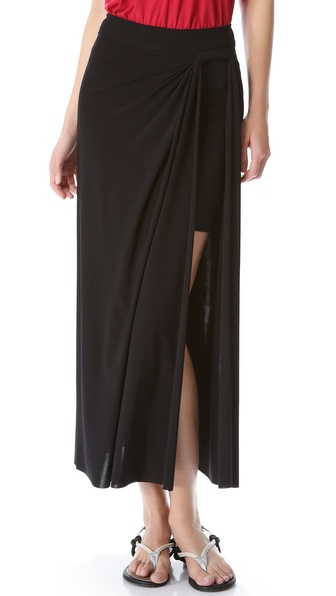 Tbags Los Angeles Side Slit Skirt