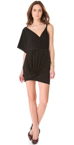 Tbags Los Angeles Shoulder Drape Dress