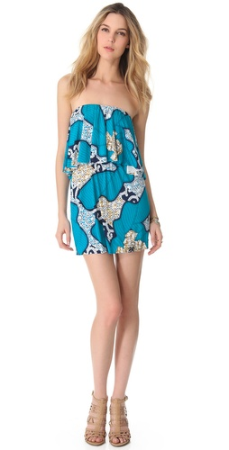 Tbags Los Angeles Strapless Ruffle Dress