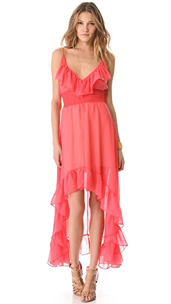 Tbags Los Angeles Hi Lo Ruffle Dress