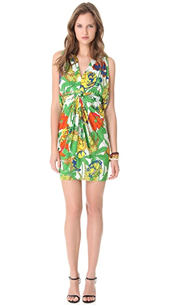 Tbags Los Angeles Ruched Open Back Dress