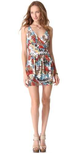 Tbags Los Angeles Cinched Waist Mini Dress
