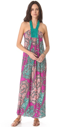 Tbags Los Angeles Beaded Maxi Dress