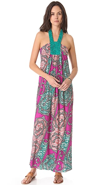 Tbags Los Angeles Beaded Maxi Dress