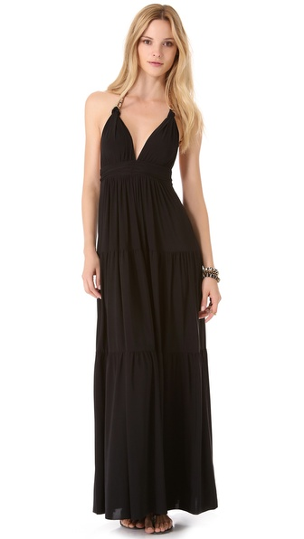 Tbags Los Angeles Halter Maxi Dress