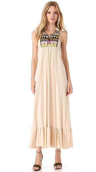 Tbags Los Angeles Embellished V Neck Maxi Dress