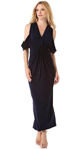 Tbags Los Angeles Draped Maxi Dress