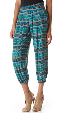 Tbags Los Angeles Cropped Print Harem Pants